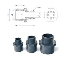 ASTM Male Adapter (SxFPT)