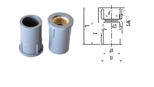 JIS Faucet Socket with Copper Insert